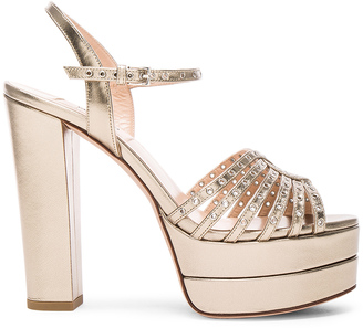 Valentino Leather Platform Sandals $995 thestylecure.com