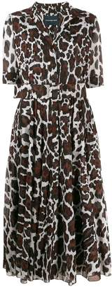 Samantha Sung camel print shirt dress