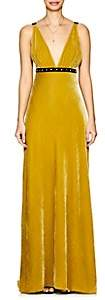 Philosophy di Lorenzo Serafini Women's Embellished Velvet Gown - Yellow