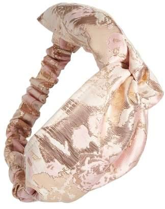 Tasha Metallic Brocade Head Wrap