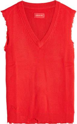 Zadig & Voltaire Distressed Merino Wool Vest