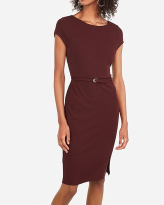 Express Belted Seamed Sheath Dress