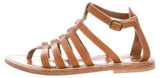 K Jacques St Tropez Caged Ankle Strap Sandals
