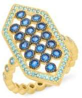 Freida Rothman Cubic Zirconia and Sterling Silver Mosaic Ring