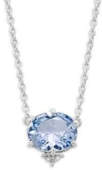 Judith Ripka Flora Sterling Silver & White Topaz Pendant Necklace