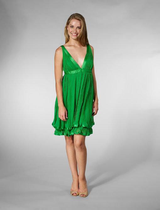 Foley + Corinna Silk Ribbon Sexy Dress in Emerald