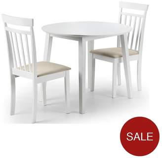 Camilla And Marc Julian Bowen Coast 90 Cm Drop Leaf Dining Table + 2 Chairs