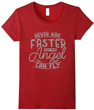 Fly London Biker T Shirt - Never Ride Faster Than Your Angel Can