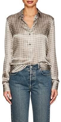 Giorgio Armani Women's Checked Silk Blouse