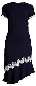 Shoshanna Women's Dinan Crochet-Trim Dress - Size 0