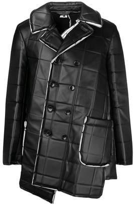 Comme des Garcons asymmetric square-embossed jacket