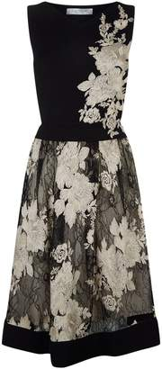 D-Exterior D.Exterior Embroidered Dress with Lace Skirt
