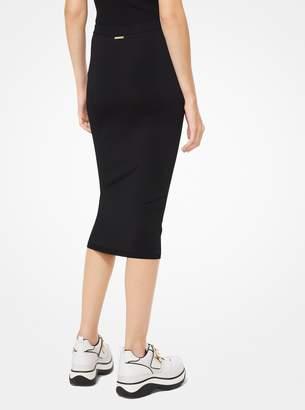 MICHAEL Michael Kors Stretch-Viscose Pencil Skirt