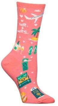 Hot Sox Novelty Multicolor Crew Socks