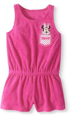 Minnie Mouse Toddler Girl Terry Romper Swim Cover-up