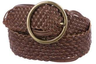 Linea Pelle Braided Leather Belt