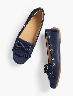 Talbots Everson Fringed Driving Moccasins