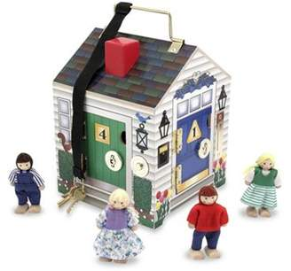 Melissa & Doug Wooden Doorbell House Early Learning Toy