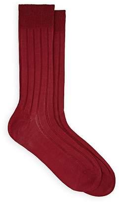 Barneys New York Men's Ribbed Cotton Mid-Calf Socks