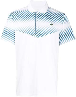 Lacoste diagonal stripe polo shirt