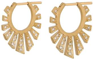 Celine Daoust Rising Sun Beam Hoop Earrings - Yellow Gold