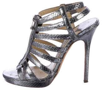 Jimmy Choo Glenys Snakeskin Sandals