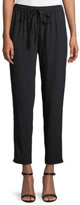 RED Valentino Tapered-Leg Crepe Satin Track Pants