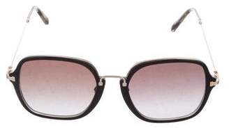 Billy Reid Black Horn Crystal Sunglasses