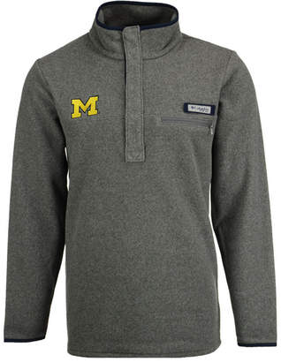 Columbia Men's Michigan Wolverines Harborside Fleece Pullover