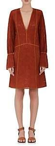Derek Lam WOMEN'S COTTON GEOMETRIC-EYELET TUNIC DRESS - HENNA SIZE 38 IT