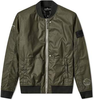 Stone Island Shadow Project Poly Hide Back Print Bomber Jacket