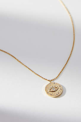 Anthropologie Starry-Eyed Coin Necklace