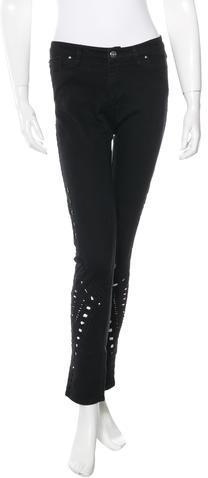 IROIro Cutout Straight-Leg Jeans