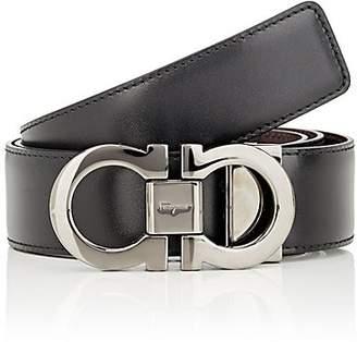 Salvatore Ferragamo Men's Reversible Leather Belt - Black