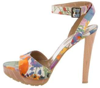Stella McCartney Floral Platform Sandals