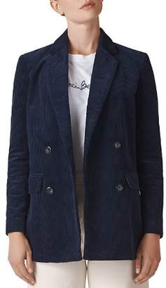 Whistles Double-Breasted Corduroy Blazer