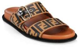 Fendi Logo Slip-On Sandals