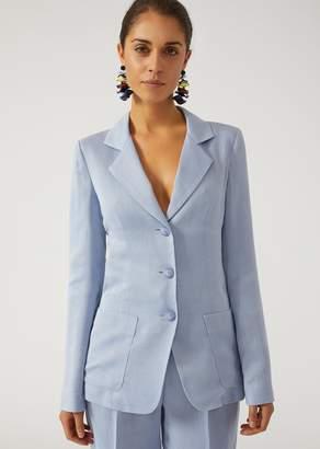 Emporio Armani Single-Breasted Silk And Ottoman Jacket