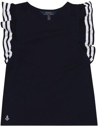 2e901fe1d36967 Polo Ralph Lauren Ruffled cotton blend shirt