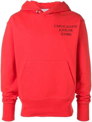 Helmut Lang Hack logo hoodie