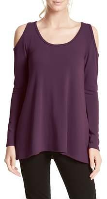 Karen Kane High/Low Cold Shoulder Sweater