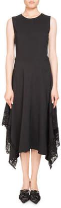 Altuzarra Alana Jewel-Neck Sleeveless A-Line Dress W/ Lace Hem