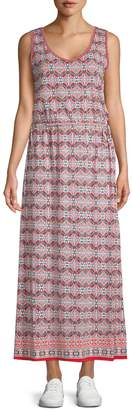 Max Studio Printed Sleeveless Maxi Dress