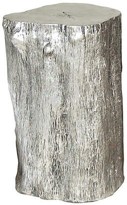"Log 17"" Rustic Accent Table - Silver - Phillips Collection"
