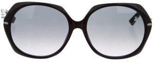 Swarovski Cosmopolitan Round Sunglasses $125 thestylecure.com