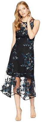 Nanette Lepore Essense Embroidered Lace Midi Dress