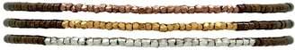 LeJu London - Thin Set Of Three Bracelets In Neutrals
