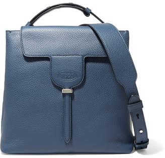 Tod's Joy Small Textured-leather Shoulder Bag - Navy
