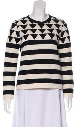 Valentino Striped Crew Neck Sweater