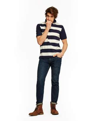 Joules French Navy Stripe Filbert Classic Fit Striped Polo Shirt